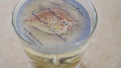 candele gel trasparente